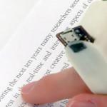 O anel leitor de livros (sem ser em Braille) para deficientes visuais
