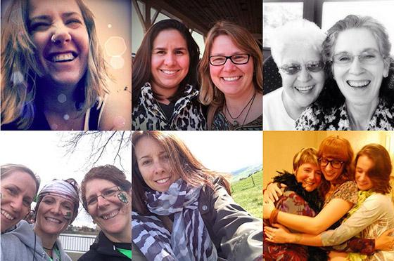 selfies compartilhados no site do projeto.