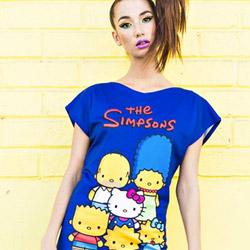93fe08be77 Marca de roupas mescla Os Simpsons + Hello Kitty. E o resultado é  irresistível.