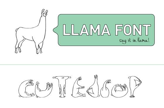 llama-font