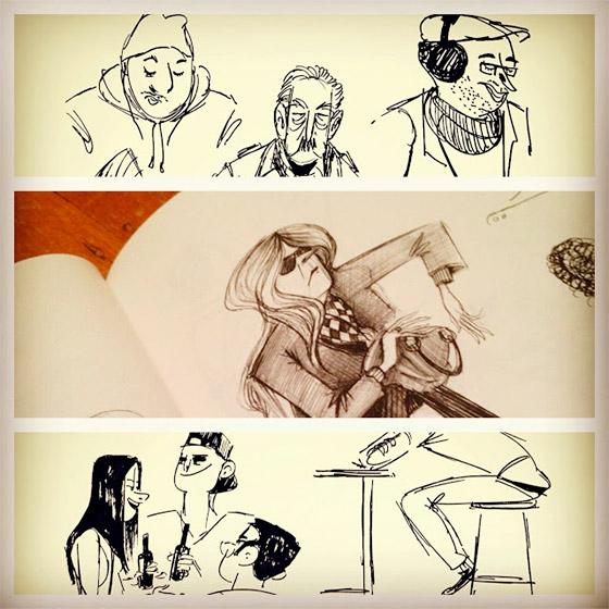 """Imagens do sketchbook de Avner chamado """"Good Mornings"""""""