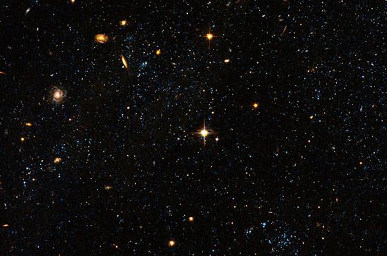 Bolhas azuis, imagem crédito da NASA