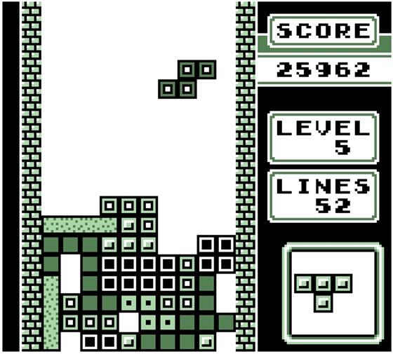 Tetris para Gameboy - imagem via