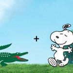 Lacoste + Snoopy: coleção especial combina crocodilo e cão em comemoração aos 65 anos do personagem