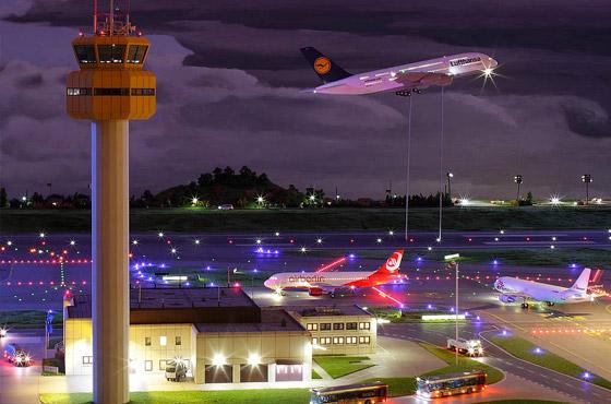 Modelo de aeroporto (fonte: Facebook Miniature Wunderland)