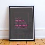 Freebies: pôsteres com frases inspiradoras para designers
