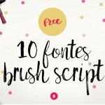 10 fontes Brush Script para baixar de graça!