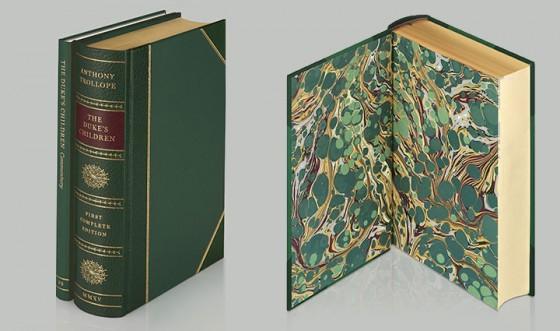 Marmorização de livros pela Folio Society