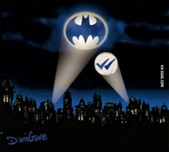 batman blue tick