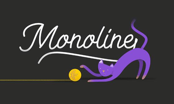 monoline-kitten-fonte-cutedrop